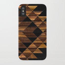 Urban Tribal Pattern 11 - Aztec - Wood iPhone Case