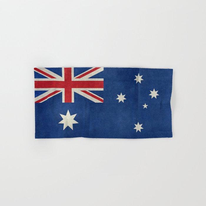"Australian flag, retro ""folded"" textured version (authentic scale 1:2) Hand & Bath Towel"