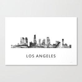 Los Angeles, California Skyline WB BW Canvas Print