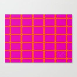Alium 3 - Delayed Color Contrast Optical Illusion Grid Canvas Print