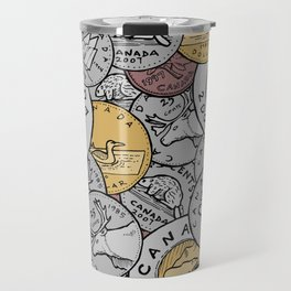 Canadian Coins Travel Mug