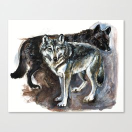 Totem Timber wolf Canvas Print