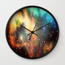 Abstract Rainbow Sky Wall Clock