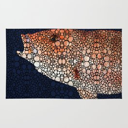 Red Grouper Fish - Florida Art By Sharon Cummings Rug