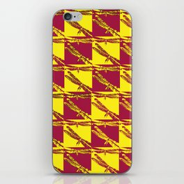 Checkered Dragonflies iPhone Skin