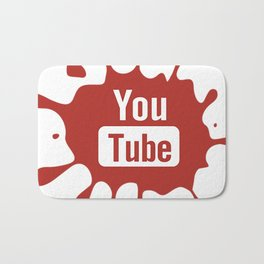 youtube youtuber - best designf or YouTube lover Bath Mat