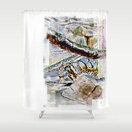 The Solar Jungle Shower Curtain