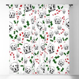 GOLDENDOODLE DOG CHRISTMAS GIFTS, GIFTS WRAPPED FOR ALL. Blackout Curtain