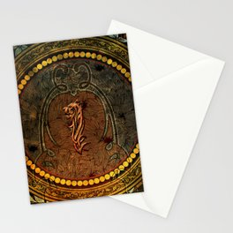 Awesome tiger, tribal design Stationery Cards