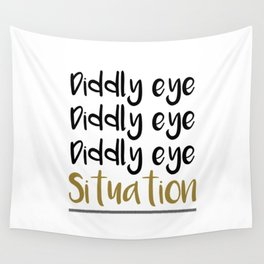 Diddly eye Wall Tapestry