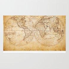 World in Hemispheres Rug
