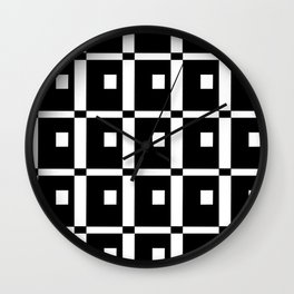 Tribute to mondrian 1- piet,geomtric,geomtrical,abstraction,de  stijl,composition. Wall Clock