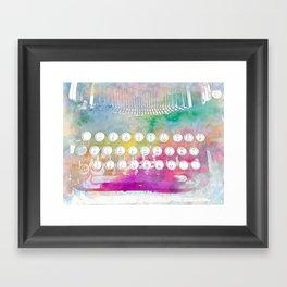 Watercolor typewriter Framed Art Print
