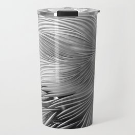 Red composition of multiple directional lines. Travel Mug