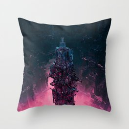 The Technocore / 3D render of futuristic structure Throw Pillow