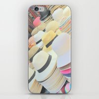 hats iPhone & iPod Skins featuring Hats by Eva Lesko