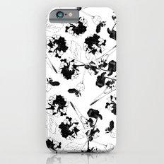 Hydranga pattern  - black and white Slim Case iPhone 6s