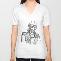 borderlands V-neck T-shirts featuring borderlands mordecai by  Steve Wade ( Swade)