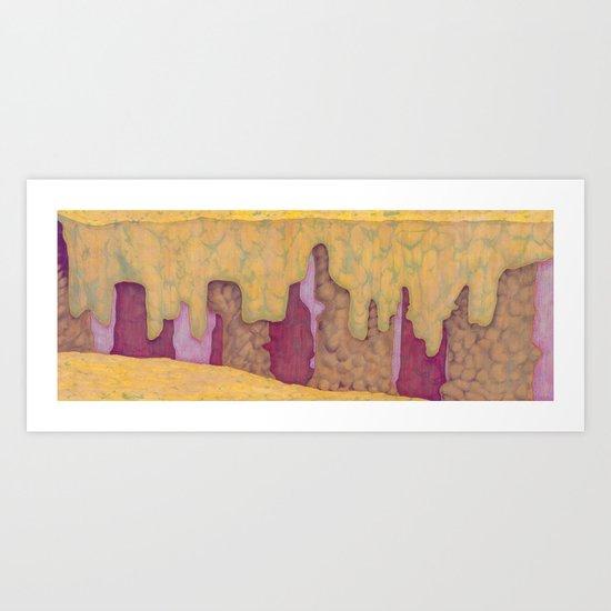 Multicolor Canyon Art Print