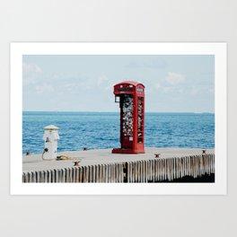 Virgin Gorda, BVI Phone Booth Art Print