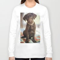 labrador Long Sleeve T-shirts featuring Labrador Love by rusticedenphotography