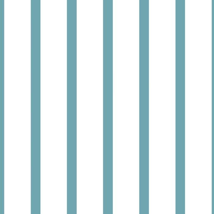 Hydrangea Blue Pinstripe on White Leggings