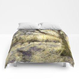 Summertime Forest Van Gogh Comforters