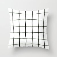 grid Throw Pillows featuring Grid by Tiffany Wong Art
