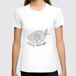 Juicy Mango Black and White Mandala T-shirt