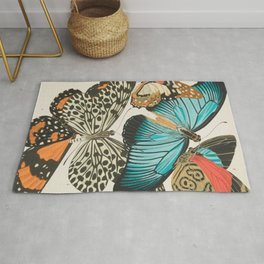 Butterfly Print by E.A. Seguy, 1925 #2 Rug