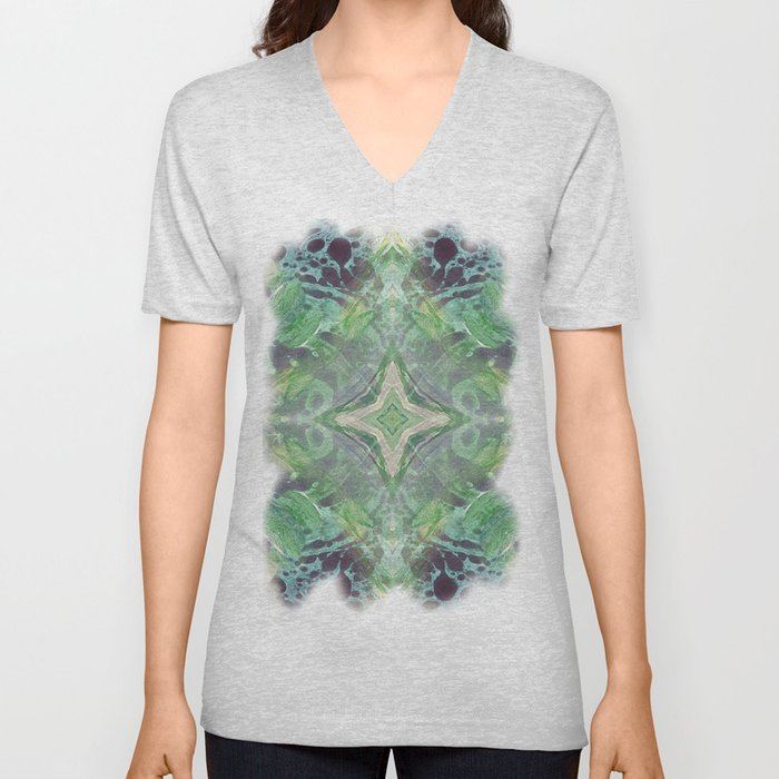 Abstract Texture Unisex V-Neck