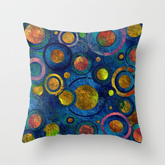 Full of Golden Dots - color variation Throw Pillow