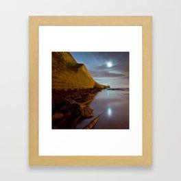 Seaham lighthouse Framed Art Print