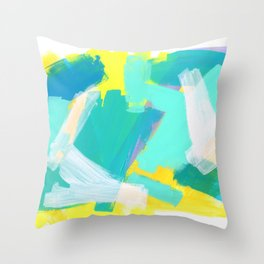 Be Kind, Be OK - mint modern mint abstract painting pastel colors Throw Pillow