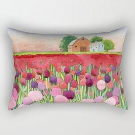 Violet and crimson tulips Rectangular Pillow