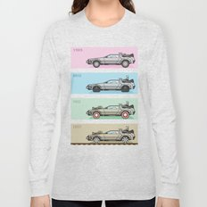 Back to the Future - Delorean x 4 Long Sleeve T-shirt
