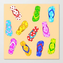 Flip Flops Pattern Canvas Print