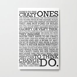 Here's To The Crazy Ones - Steve Jobs Metal Print