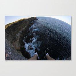 Sea side cliff  Canvas Print