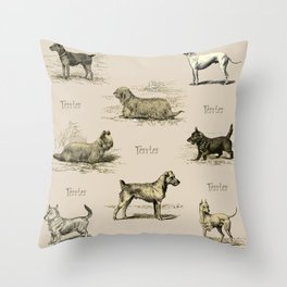 TERRIERS Dog pattern Throw Pillow