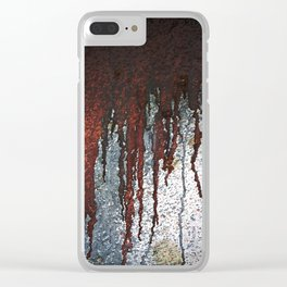 Bloody Rust Drips Clear iPhone Case