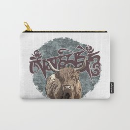 Tibetan Yak with Mani Mantra(six-syllabled Sanskrit mantra: OM MANI PADME HUM ) Carry-All Pouch