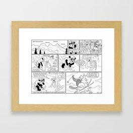 Spandex Panda - Comic 9 - Banff Framed Art Print