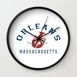Orleans - Cape Cod. Wall Clock