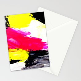 Funky colors abstract Stationery Cards