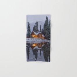 Cabin in Winter Woods (Color) Hand & Bath Towel