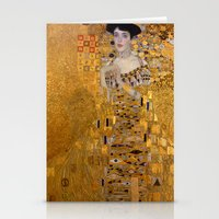 gustav klimt Stationery Cards featuring Adele Bloch-Bauer I by Gustav Klimt by Palazzo Art Gallery