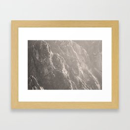Condors soaring in colca canyon Framed Art Print