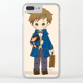 Newt Scamander & Niffler. Clear iPhone Case