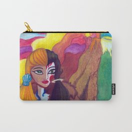 Somewhere Between Good & Evil {Mixed Media: watercolor, gouache, acrylic} Carry-All Pouch